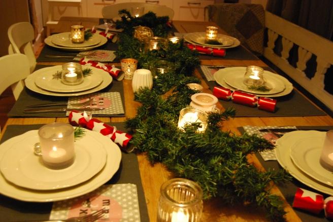 Kerst Diner Tafel Setting